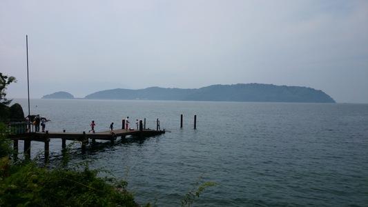 滋賀県、琵琶湖の沖島