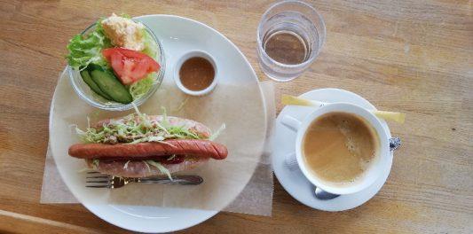 ランチセット(Lunch-Set)メニューの【もちきびウィンナードッグセット】